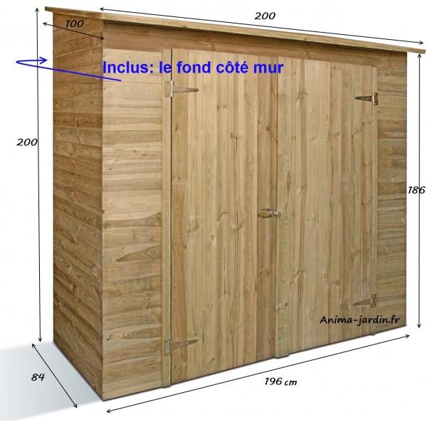 remise outils 2 portes savona armoire de rangement pour abri de jardin achat vente. Black Bedroom Furniture Sets. Home Design Ideas