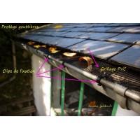 Protection pour gouttière, grillage PVC solide, anti-feuilles mortes, nortène