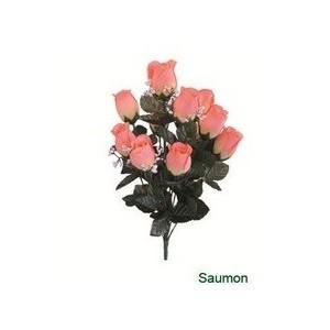 jardinière boutons de rose, fleur artificielle en tergale, toussaint, rameaux