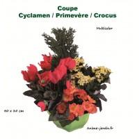 Coupe de fleurs artificielles, 35/40cm, toussaint, rameaux, tergal, achat/vente