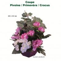 Coupe de fleurs artificielles, 30/35cm, toussaint, rameaux, tergal, achat/vente