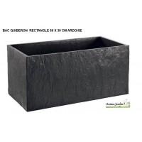 Bac, Jardinière en béton ciré 60cm, Quiberon, couleur ardoise, achat
