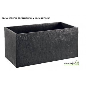 bac jardini re en b ton cir 60cm quiberon couleur ardoise achat. Black Bedroom Furniture Sets. Home Design Ideas