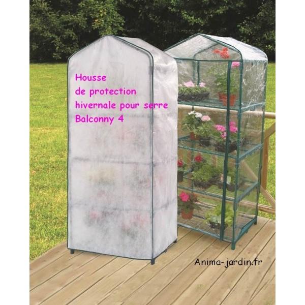 Housse hivernage pour serre de balcon nortene balcony 4 cover for Chauffage pour serre de jardin