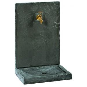FONTAINE MURALE 64cm PM ARDOISEE NOIRE  pierre reconstituée 017240