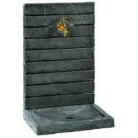 FONTAINE MURALE  CONTEMPORAINE PM 64 cm NOIRE 017260