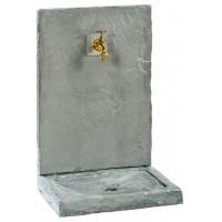 FONTAINE MURALE 74cm GM ARDOISEE ZINC  pierre reconstituée 018230