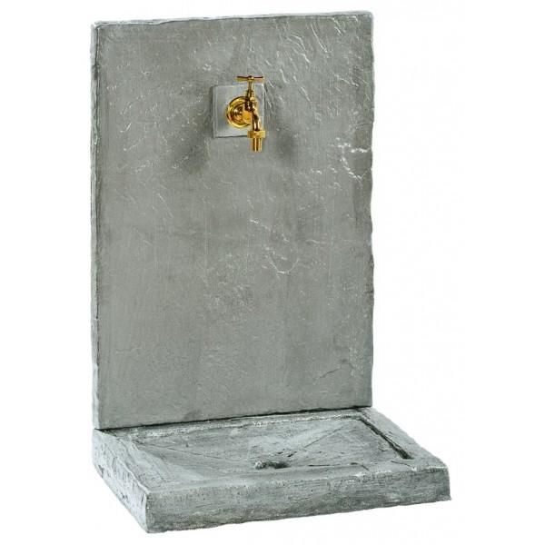 fontaine murale 74cm gm ardoisee zinc pierre reconstitu e 018230. Black Bedroom Furniture Sets. Home Design Ideas