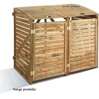 Cache poubelle double en  bois, Rangement poubelle, First, achat