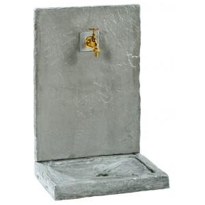 FONTAINE MURALE 64cm PM ARDOISEE ZINC en  pierre reconstituée 018240