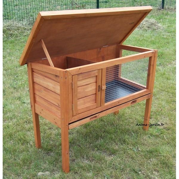 clapier lapin en bois sur pied ext rieur rongeurs achat pas cher. Black Bedroom Furniture Sets. Home Design Ideas