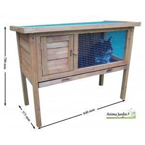 Clapier lapin en bois, sur pied, extérieur, rongeurs, achat pas cher