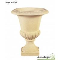 Coupe Médicis en pierre reconstituée, vasque, contenant, pot, achat