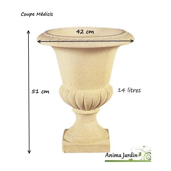 Médicis en pierre reconstituée, vasque, contenant, pot, achat
