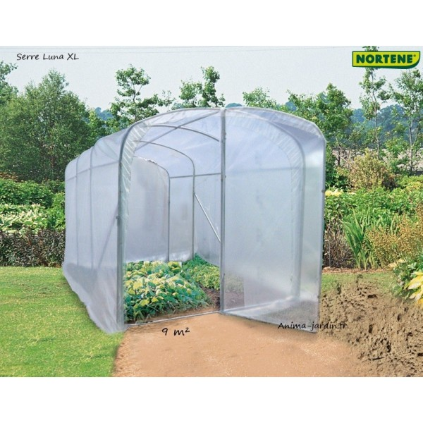 serre tunnel luna xl 9m serre de jardin nortene achat vente. Black Bedroom Furniture Sets. Home Design Ideas