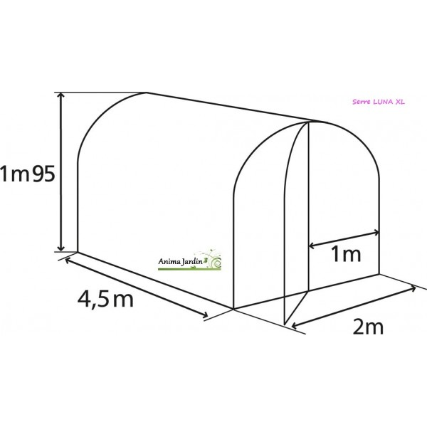Tunnel LUNA XL, 9m², serre de jardin NORTENE, achat/vente