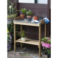 Table de rempotage et semis en bois, dessus en zinc, achat, pas cher