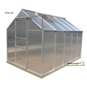 Serre de Jardin en aluminium et polycarbonate, 5.92 m², achat, pas cher