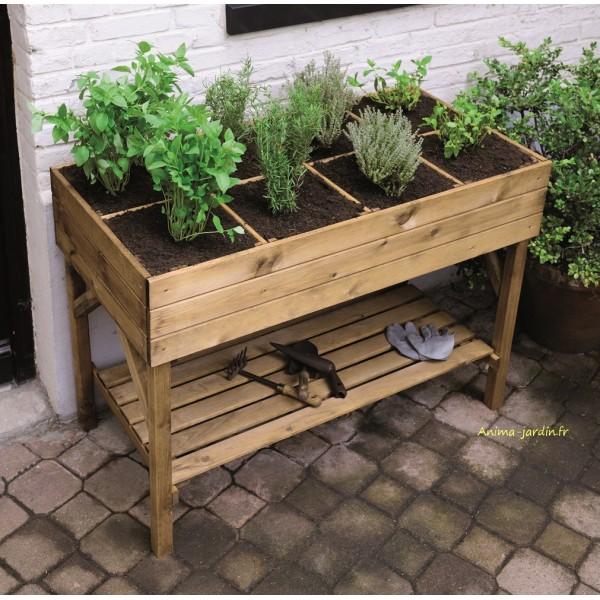 Carr potager haut gariguette carr de jardin achat vente for Jardin potager de balcon