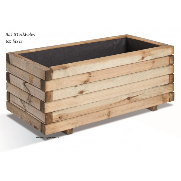 bac jardini re bois pour plantes stockholm autoclave achat vente. Black Bedroom Furniture Sets. Home Design Ideas