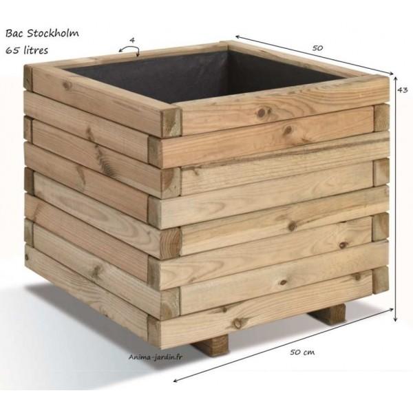 bac jardini re bois pour plantes stockholm autoclave achat vente. Black Bedroom Furniture Sets. Home Design Ideas