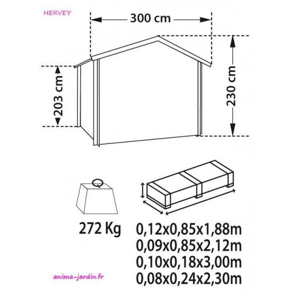 grand garage m tal 18m hervey acier vert achat vente pas cher. Black Bedroom Furniture Sets. Home Design Ideas
