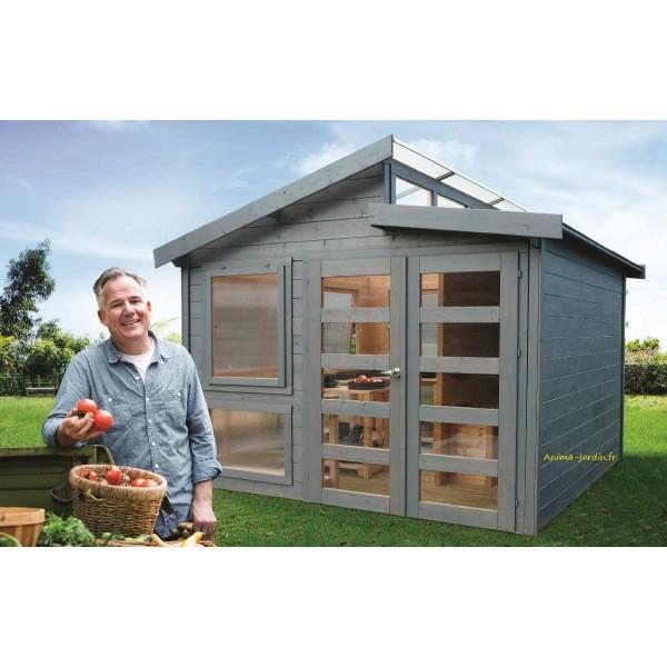Abri serre de jardin merano 28mm moderne solid achat vente - Abri jardin grande taille ...