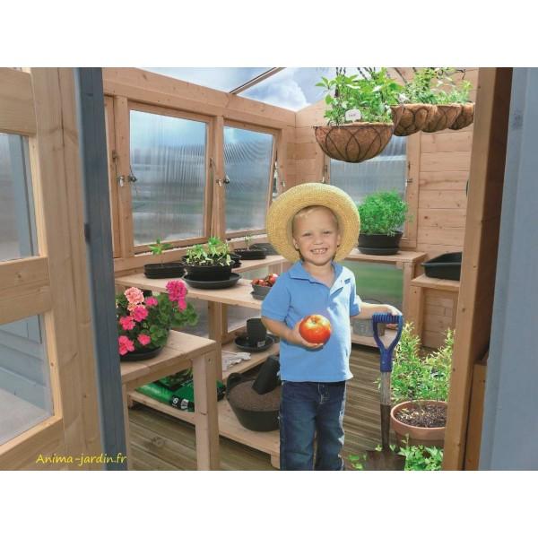 Abri serre de jardin merano 28mm moderne solid achat vente for Achat tyrolienne jardin