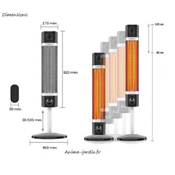 chauffage infrarouge sur pied int rieur ext rieur fargau sigma. Black Bedroom Furniture Sets. Home Design Ideas