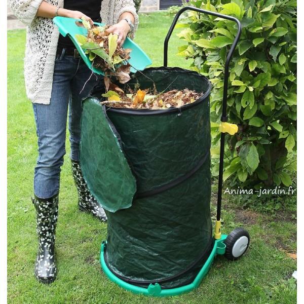 Chariot poubelle de jardin ramasse feuilles pas cher for Boule lumineuse jardin pas cher