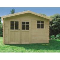 Abri de jardin en bois 28mm, 9.18 m², CHIMAY, Solid, achat/vente