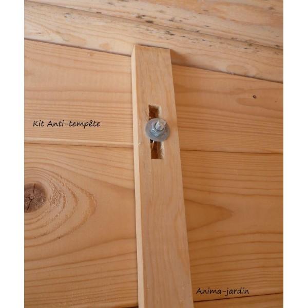 Kit Anti temp u00eate en bois pour Abri de jardin, solid, achat vente # Achat Stere De Bois