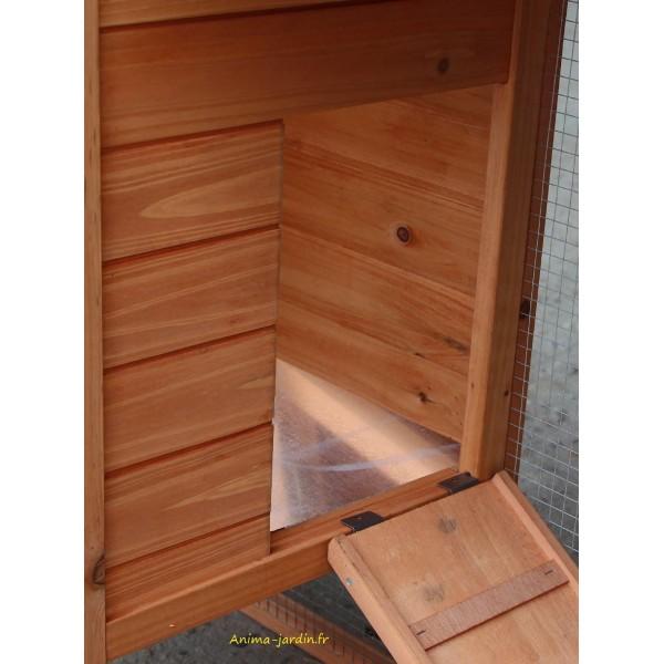 Poulailler bois pas cher affordable poulailler en bois grande taille poules avec montage with - Grillage poule pas cher ...