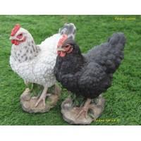 Poules naines en résine, décoration de jardin, animal de la ferme