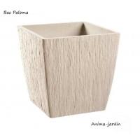 Bac carré en pierre reconstitué, Paloma, couleur pierre, achat