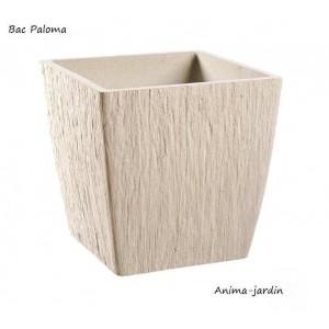 Bac carré en pierre reconstitué, Paloma, couleur pierre, achat/vente