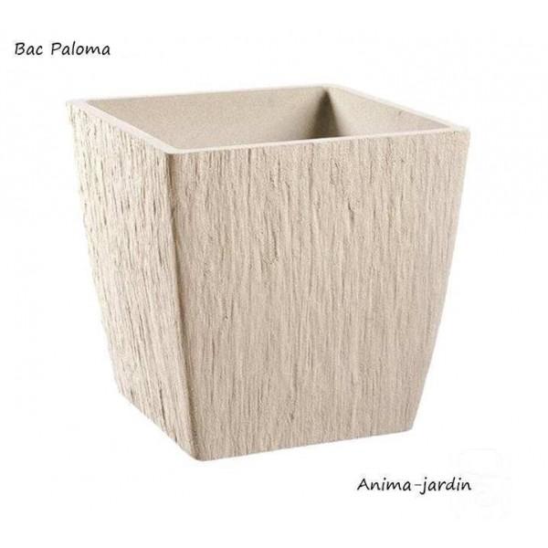 Bac carr en pierre reconstitu paloma couleur pierre achat for Bac pierre jardin