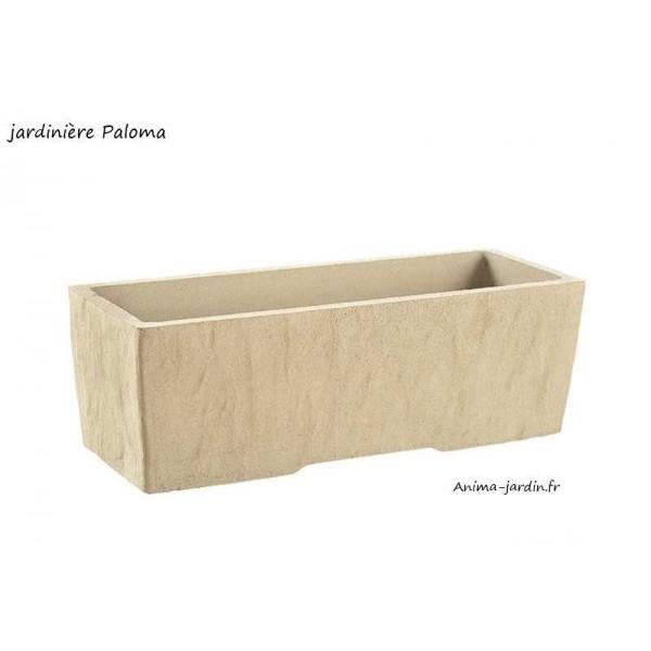 jardini re en b ton vibr 78cm paloma couleur pierre achat. Black Bedroom Furniture Sets. Home Design Ideas