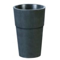 Bac,Vase, Pot Rond en béton ciré Ardoise