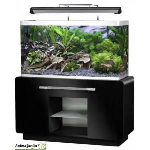 Aquarium OSAKA 260 Noir Glossy avec meuble, design, pas cher