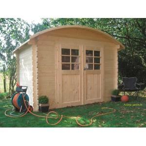 Abri de jardin en bois dainville toit arrondi 5 88m for Abri de jardin en bois traite autoclave pas cher