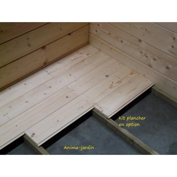 Abri de jardin en bois 40 mm viborg toit plat 11 89m - Balancelle en bois pas cher ...