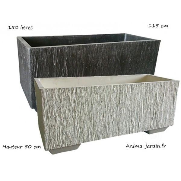 bac jardini re en b ton cir 115cm quiberon couleur. Black Bedroom Furniture Sets. Home Design Ideas
