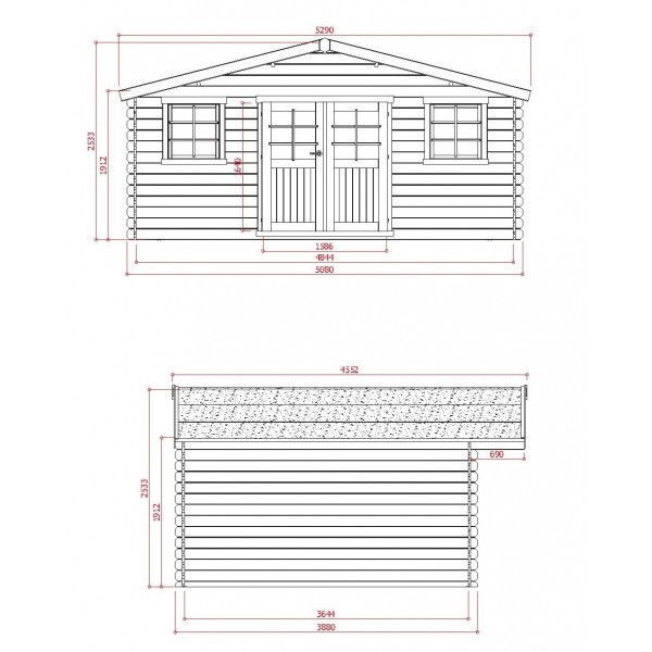 Abri de jardin en bois 28mm trait autoclave zurich 19 - Abri de jardin toit plat traite autoclave ...