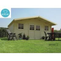 Abri de jardin en bois 28mm traité autoclave, ZURICH, 19,71m²