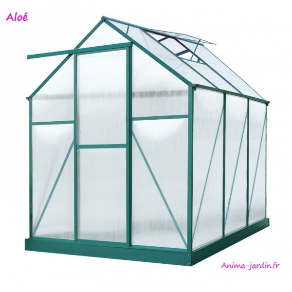 serre de jardin en polycarbonate aloe 5 95m lams pas cher. Black Bedroom Furniture Sets. Home Design Ideas