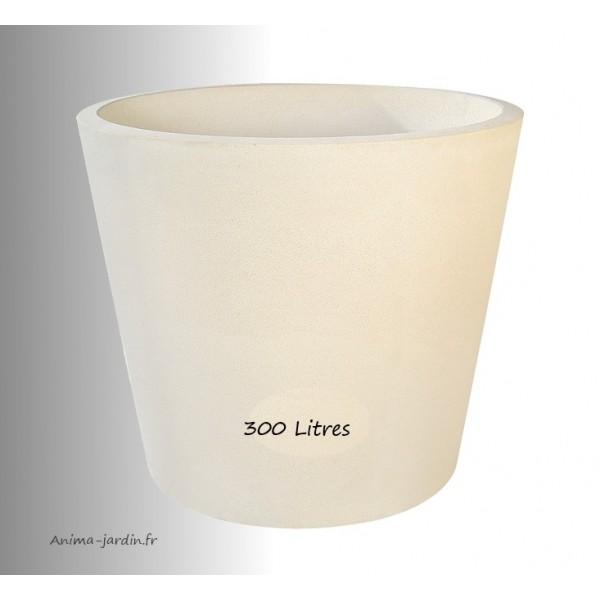 Grand pot en b ton pr ss diam 90cm gros volume achat vente - Jardiniere plastique gros volume ...