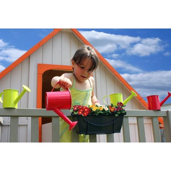 maisonnette enfant en bois duplex mezzanine achat pas. Black Bedroom Furniture Sets. Home Design Ideas