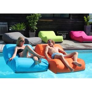 Matelas de piscine flottant, Wave, gonflable, canapé, pouf pas cher