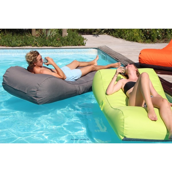 Matelas de piscine flottant wave gonflable canap pouf - Piscine design pas cher ...